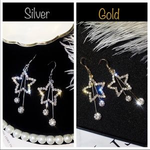 "Jewelry - New✨NWT EARRINGS ""DRIPSTERS"" Stars 2 colors"